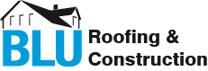 BLU Roofing & Construction Logo